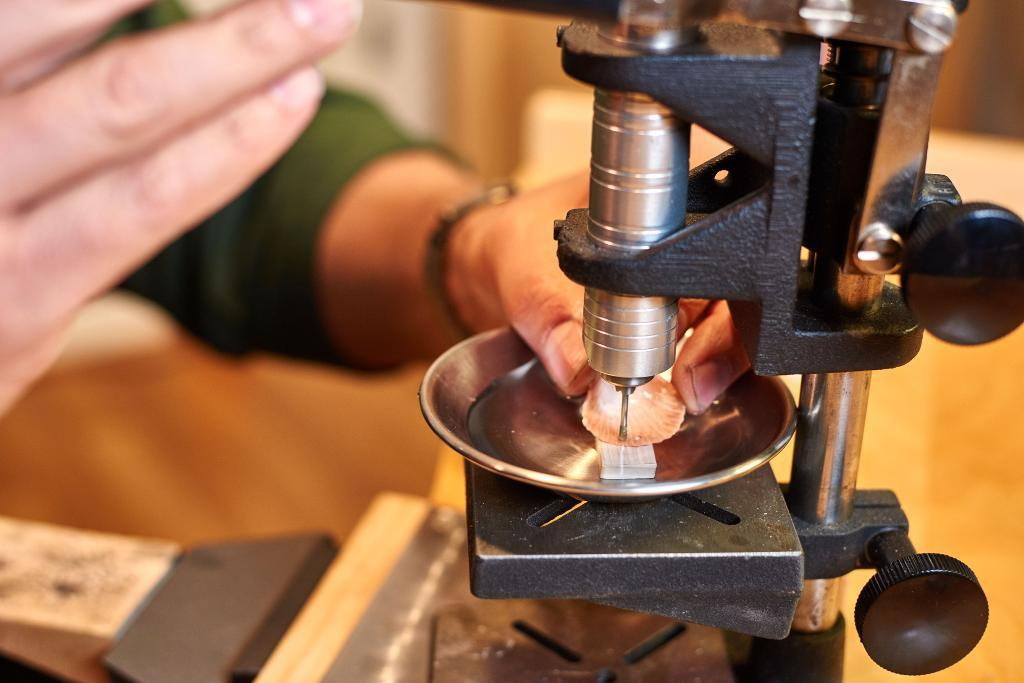 2.Using a drill press for making jewelry
